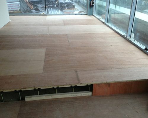 Floating Floors Are Constructed Of Three Layers A Layer That Walk Carrying Reinforced Concrete Screed Plate OSB Cement Fibreboard Drywall